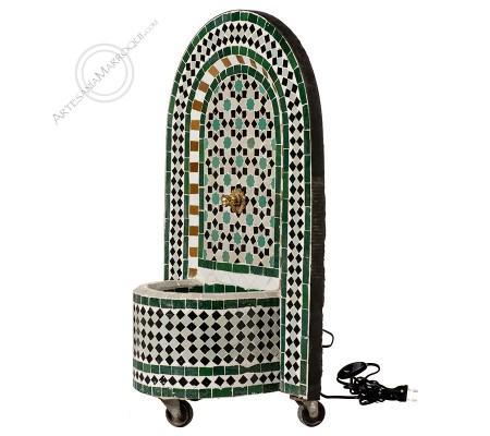 Fuente de mosaico 075 cm verde