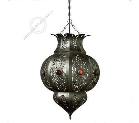 Large Openwork Iron Lamp