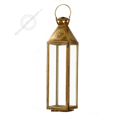 Copper lantern 80 cm