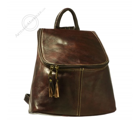 Leather backpack dark Anwar