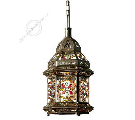 ASFI Painted Glass Lantern