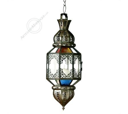 Lámpara farol-portavelas