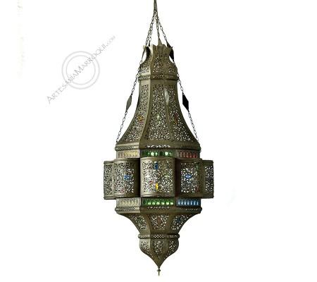 Lámpara Hicham de hierro calado