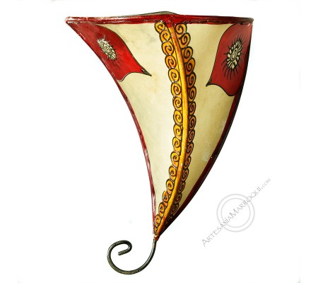 Red and orange henna wall sconce