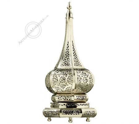 Oriental silver lamp