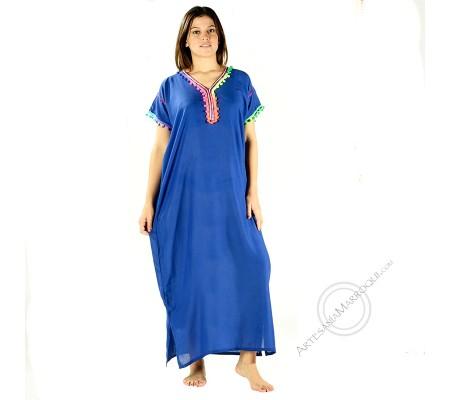 Gandora azul con pompones de color