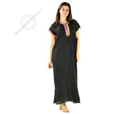 Gandora negra con pompones de color