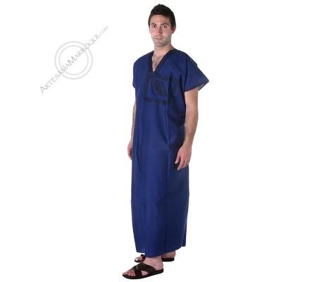 Gandora con bolsillo en el pecho color azul