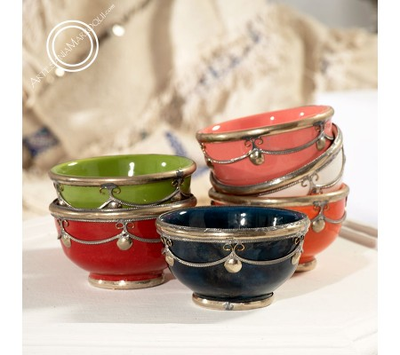 Filigree colored bowls