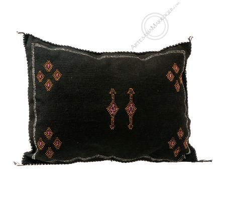 Black sabra cushion