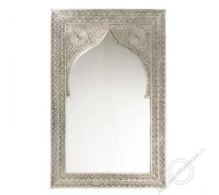 Espejo árabe 045x070 cms plano plateado