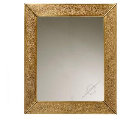 Arabic mirror 050x60 cm flat copper