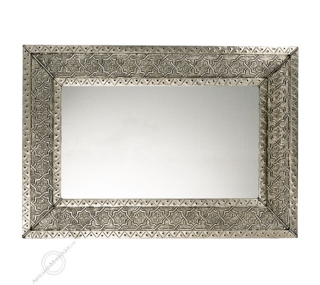 Arabic mirror 055x80 cm silver