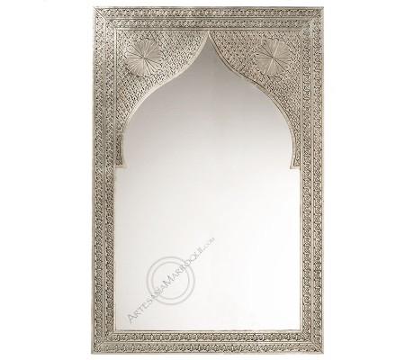 Espejo árabe 060x090 cms plano plateado