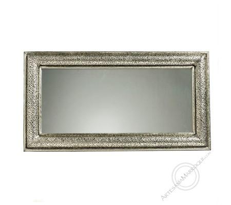 Arabic mirror 060x110 cm silver