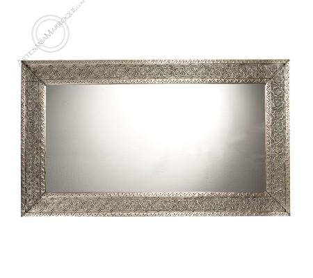 Espejo árabe 070x120 cms plateado