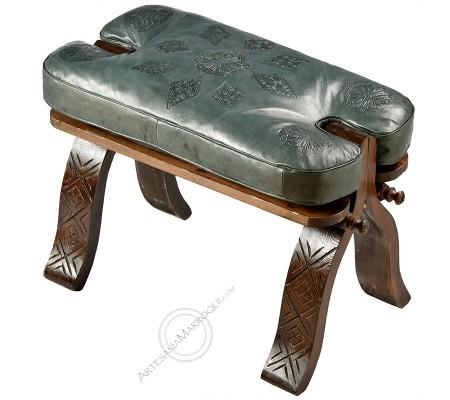 Gray ottoman stool