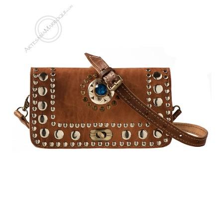 Leather bag camel El-fathi