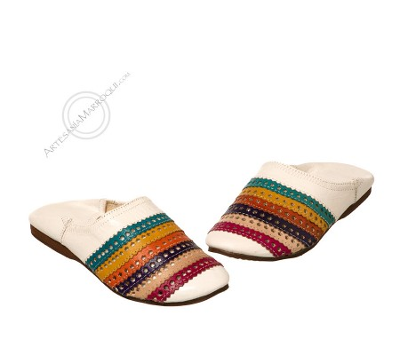 White striped slippers