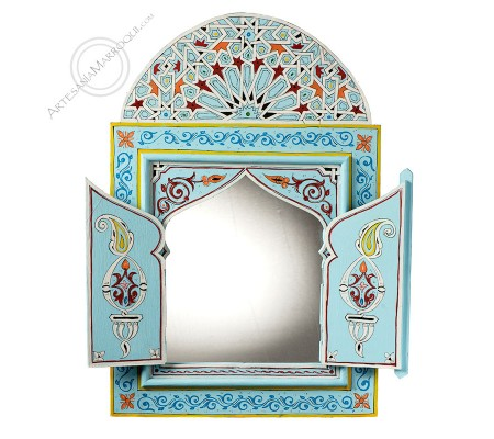 Arabic mirror 060x90 cm light blue