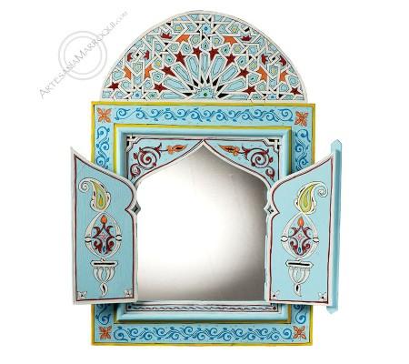 Espejo árabe 060x90 cm celeste