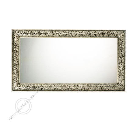 Arabic mirror 070x130 cm silver