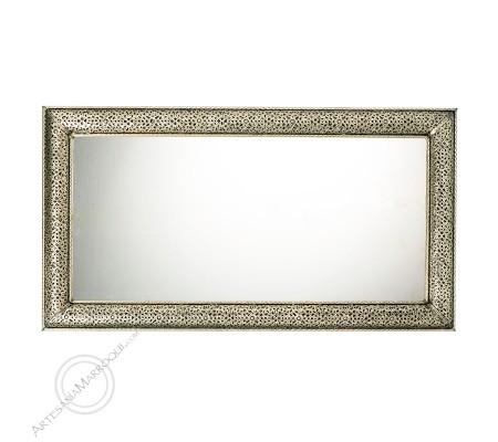 Espejo árabe 070x130 cms plateado