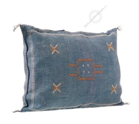 Cojín de sabra azul rectangular