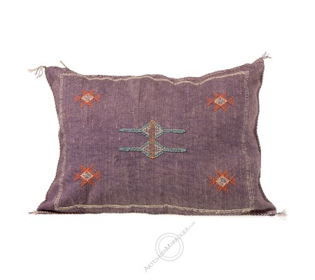 Rectangular purple sabra cushion