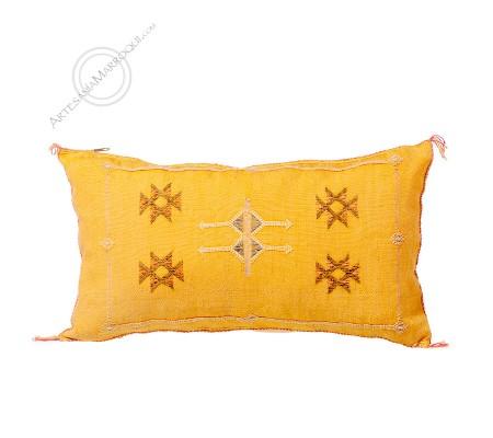 Rectangular orange sabra cushion