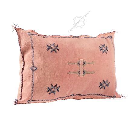 Cojín de sabra rosa rectangular