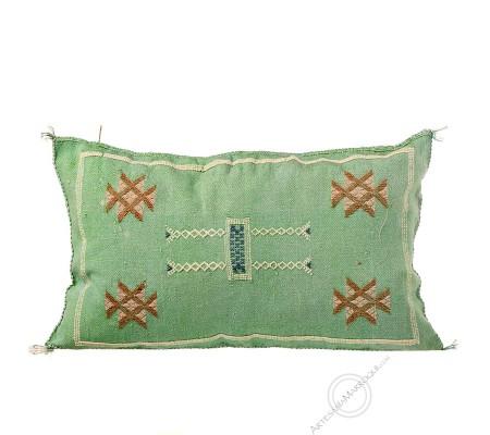 Cojín de sabra verde rectangular