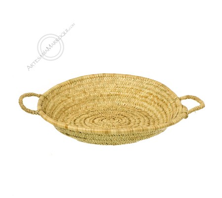 Small midouna bread basket with handles