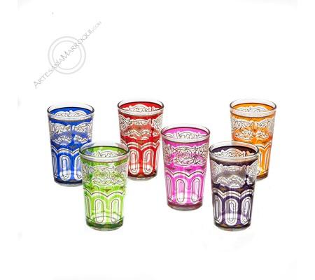MULTICOLOR CLASSIC TEA GLASS SET