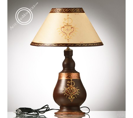 Lámpara 50 cm pie de ceramica