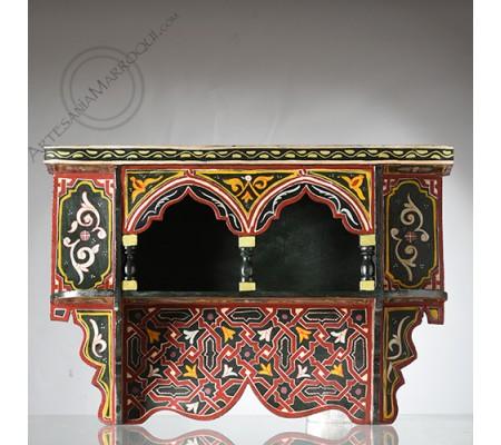 Estantería árabe pequeña de madera pintada