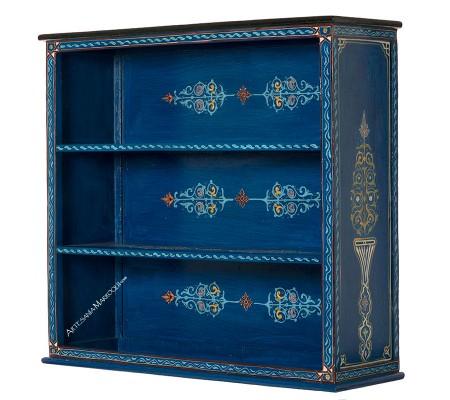 Librería azul 90 cm