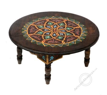 Mesa baja marrón oscuro 60 cm