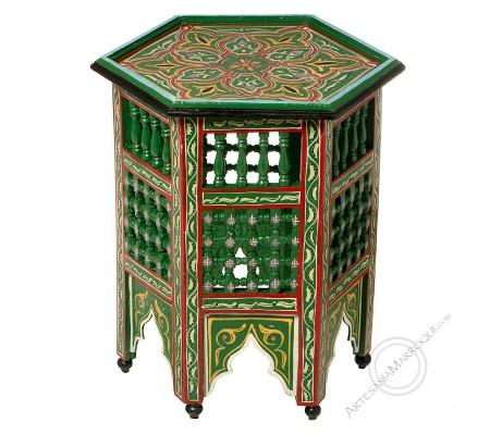 Green hexagonal table