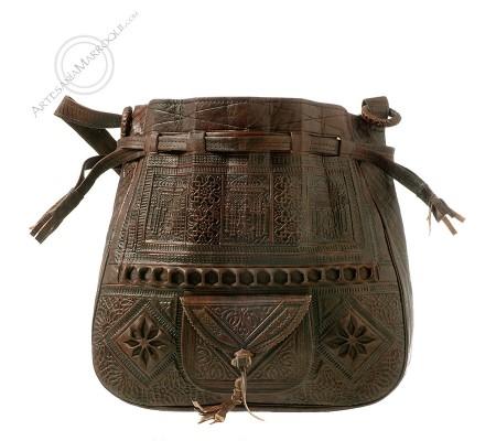 Leather bag Beldi dark