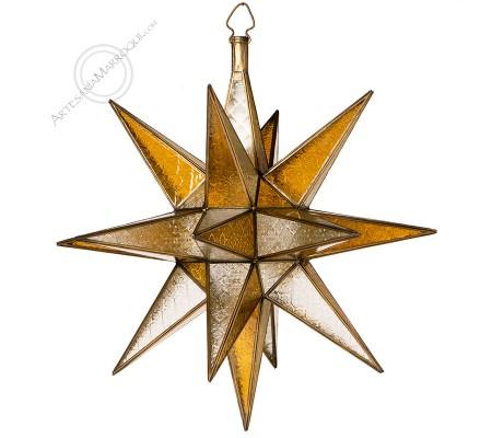 Lámpara estrella gigante de cobre