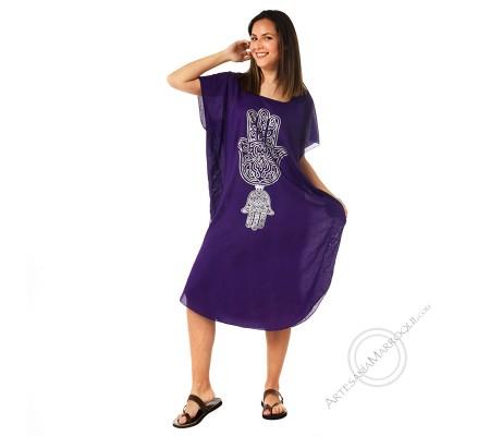 Gandora mano de Fátima violeta