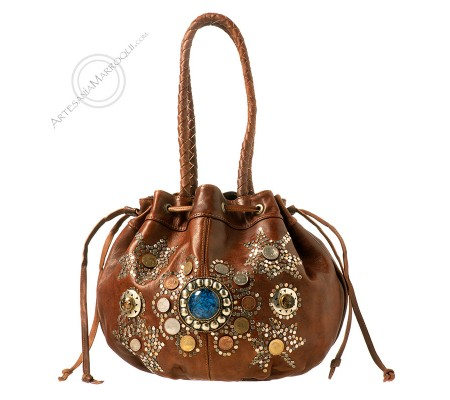 Leather dark bag Guercif