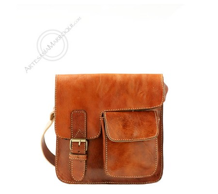 Small Erfoud leather bag