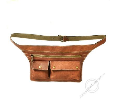 Two-pocket belt bag
