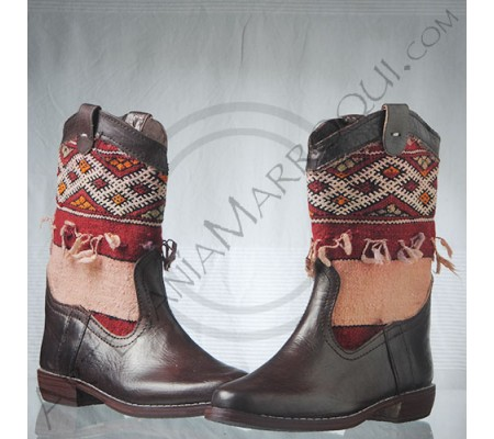 Kilim boot size 38 faded red