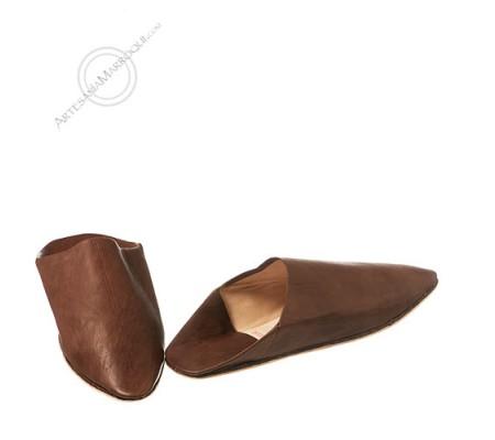 Dark brown slippers