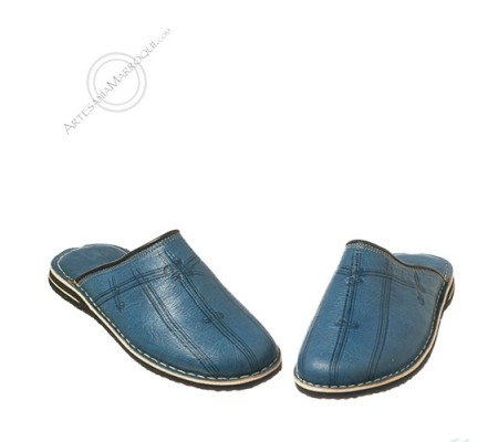 Turquoise slippers