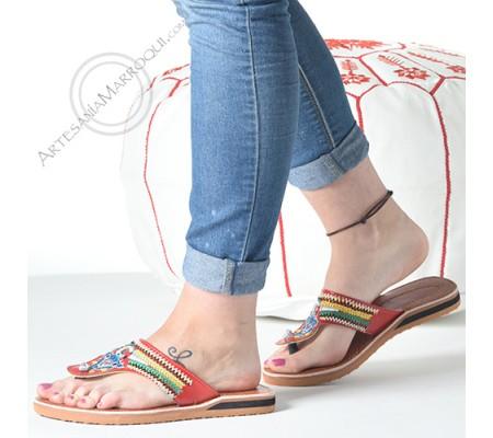Sandalia broche bereber