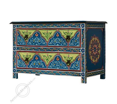 Mueble bajo 75 cm azul oscuro